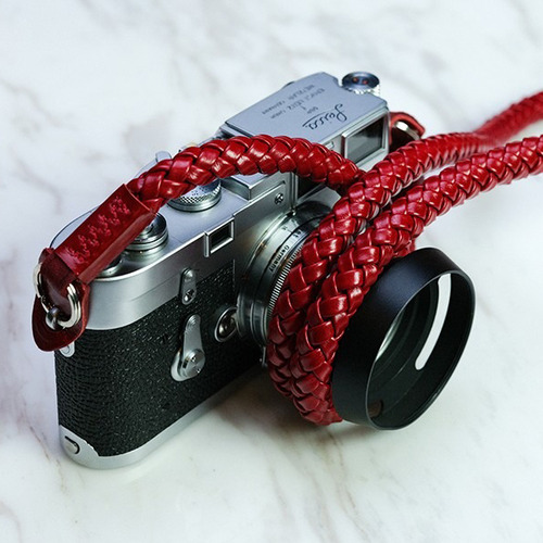 Barton1972 Leather Neck Strap Whip - Passion RedLEICA, 라이카